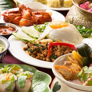 アジアのおいしいとこガッツリコース<全11品>
