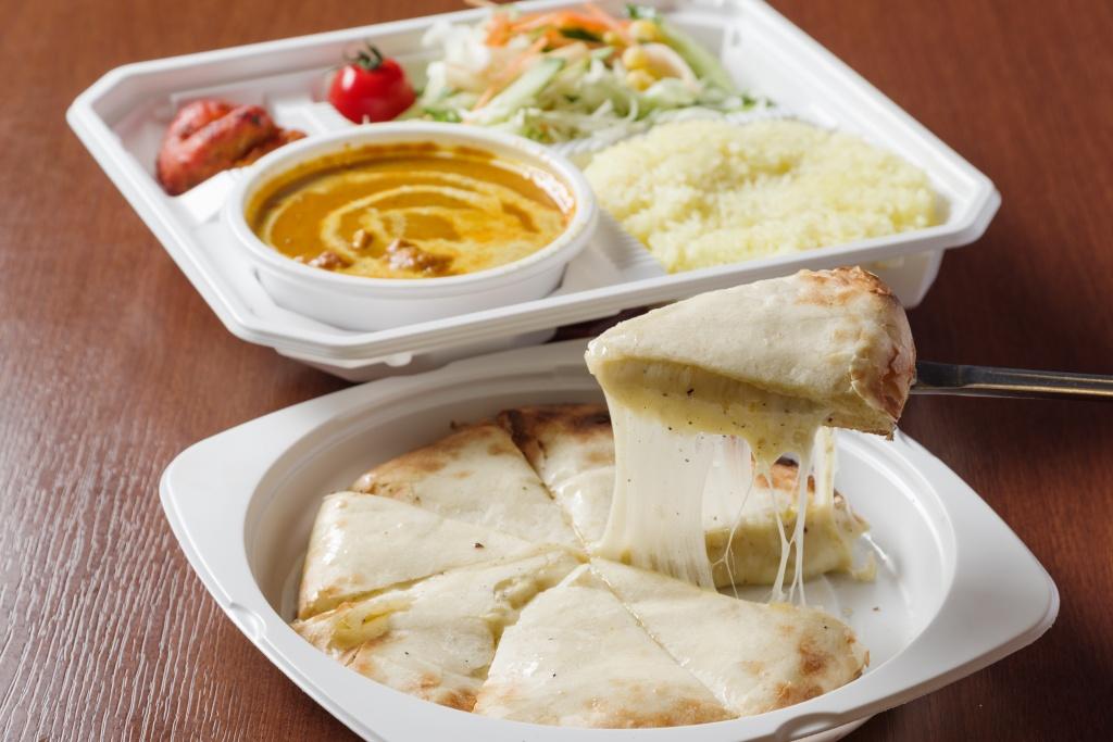 インドカレーランチ/チーズナン